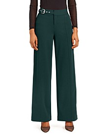 INC Side-Belt Wide-Leg Pants, Created for Macy's