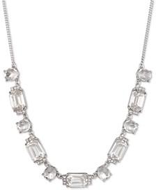 "Pavé & Stone Collar Necklace, 16"" + 3"" extender"