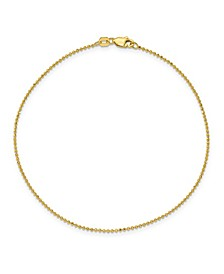 Baby Ball Chain Anklet in 14k Yellow Gold