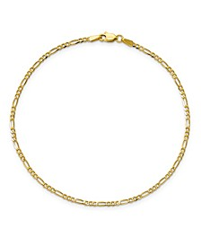 Flat Figaro Chain in 14k Yellow Gold