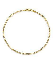Flat Figaro Chain in 14k Yellow Gold