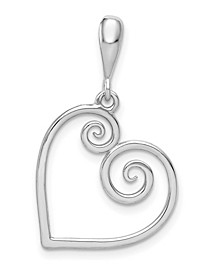Heart Charm in 14k White or Yellow Gold