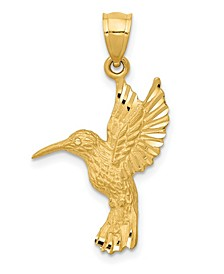 Hummingbird Pendant in 14k Yellow Gold