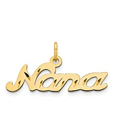 Nana Charm in 14k Yellow Gold