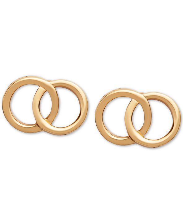 Olivia Burton Double Ring Stud Earrings