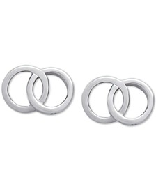 Double Ring Stud Earrings