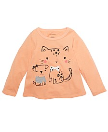 Toddler Girls Dog & Cat T-Shirt, Created For Macy's
