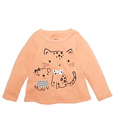 First Impressions Baby Girls Dog & Cat T-Shirt, Created For Macy's