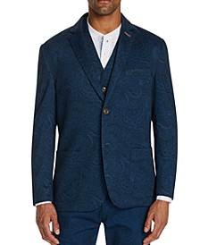Men's Slim-Fit Stretch Paisley Knit Blazer