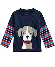 First Impressions Toddler Boys Cotton Striped Doggie T-Shirt, Created For Macy's