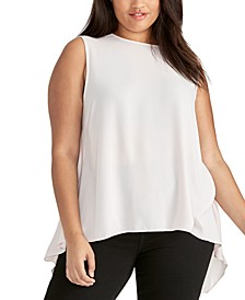 Trendy Plus Size Raeni Drape-Back Top