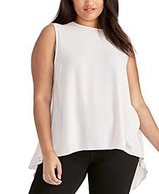 Trendy Plus Size Raeni Drape-Back Top