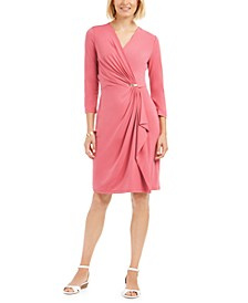 Hardware Faux-Wrap Dress, Created for Macy's