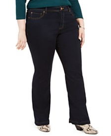 I.N.C. Plus & Petite Plus Size INCFinity Bootcut Jeans, Created For Macy's