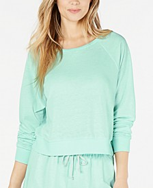Juniors' Cropped Cover-Up Sweatshirt, Created for Macy's