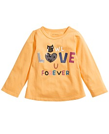 First Impressions Baby Girls Owl Love U T-Shirt, Created For Macy's