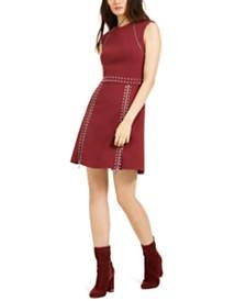 Michael Michael Kors Pyramid Studded Dress, Regular & Petite