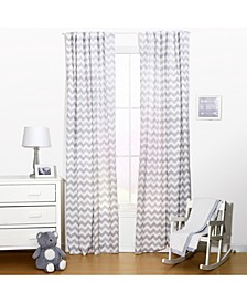 "42"" x 84"" Chevron Print Curtain Set"