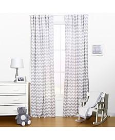 "The Peanutshell 42"" x 84"" Chevron Print Curtain Set"