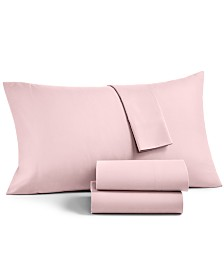Martha Stewart Essentials Solid Microfiber 4-Pc. California King Sheet Set, Created for Macy's