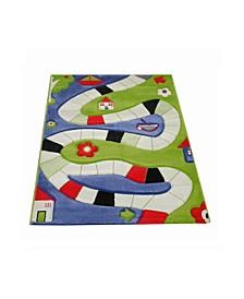 "Playway Soft Nursery Rug with a Playful Design - 59""L x 39""W"