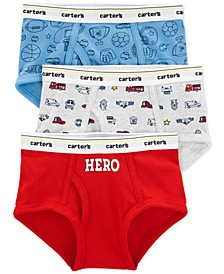 Little & Big Boys 3-Pk. Hero Cotton Briefs