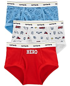 Carter's Little & Big Boys 3-Pk. Hero Cotton Briefs