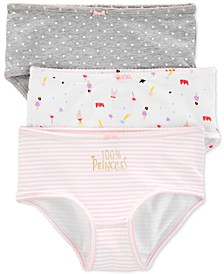 Little & Big Girls 3-Pk. Princess Underwear