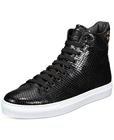 Men's Embossed High-Top Fashion Sneakers