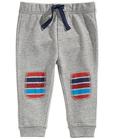 Baby Boys Striped Patch Jogger Pants, Created For Macy's