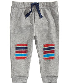 First Impressions Baby Boys Striped Patch Jogger Pants, Created For Macy's