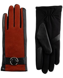 Women's SleekHeat® Genuine Leather Gloves with Buckle