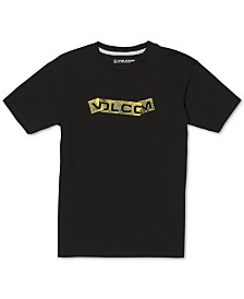Volcom Big Boys Fooled Logo-Print Cotton T-Shirt