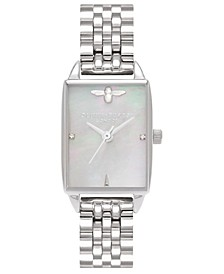Women's Bee Hive Stainless Steel Bracelet Watch 20mm