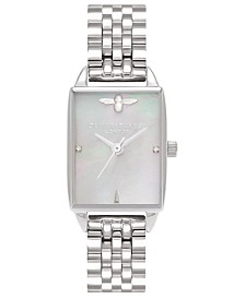 Olivia Burton Women's Bee Hive Stainless Steel Bracelet Watch 20mm
