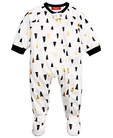 Matching Family Pajamas Baby Tree-Print Footed Pajamas, Created For Macy's