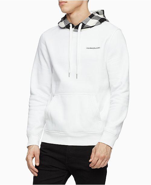 Calvin Klein Jeans Men's Plaid Hood Sweater