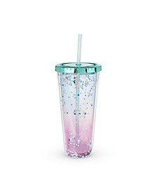 Mermaid Glitter Drink Tumbler