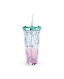Blush Mermaid Glitter Drink Tumbler