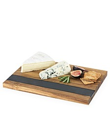 Wood with Slate Cheese and Charcuterie Board