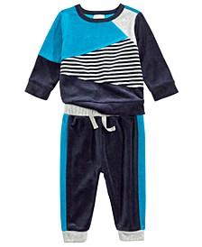 Baby Boys 2-Pc. Colorblocked Sweatshirt & Jogger Pants Set, Created For Macy's