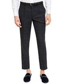 I.N.C. Men's Slim-Fit Windowpane Pleated Pants, Created For Macy's