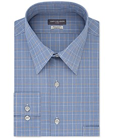 Men's Big & Tall Wrinkle-Resistant Plaid Dress Shirt