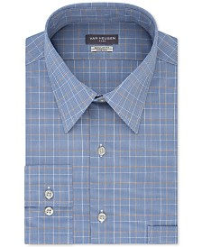 Van Heusen Men's Big & Tall Wrinkle-Resistant Plaid Dress Shirt
