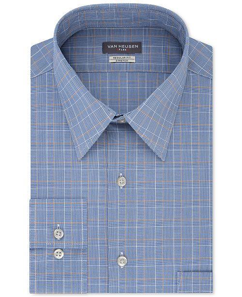 Van Heusen Men's Big & Tall Wrinkle-Resistant Plaid Dress Shirt