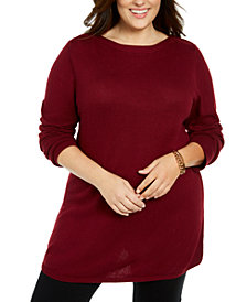 Karen Scott Plus Size Tunic Sweater, Created For Macy's