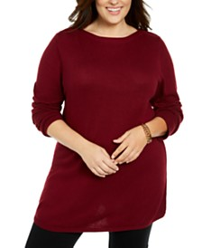 Karen Scott Plus Size Tunic Sweater, Created For Macy's