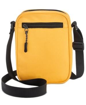 Men's Checkerboard-Print Mini Messenger Bag