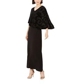 28th & Park Velvet Overlay Dress