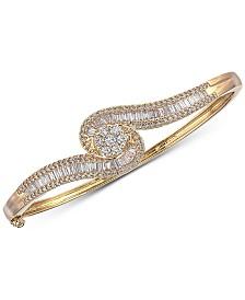 Diamond Bangle Bracelet (2 ct. t.w.) in 14k Gold